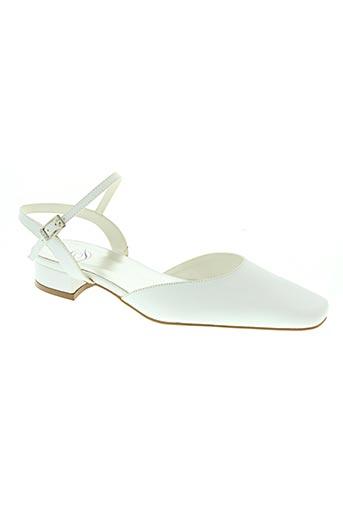 d chaussures femme de couleur blanc