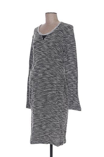 Robe pull gris COLLINE pour femme