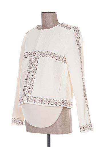 Veste chic / Blazer beige COLLINE pour femme