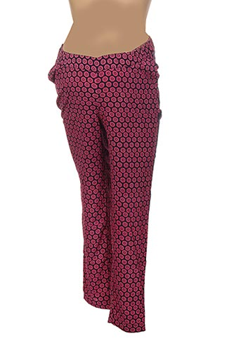 Pantalon casual rose COLLINE pour femme