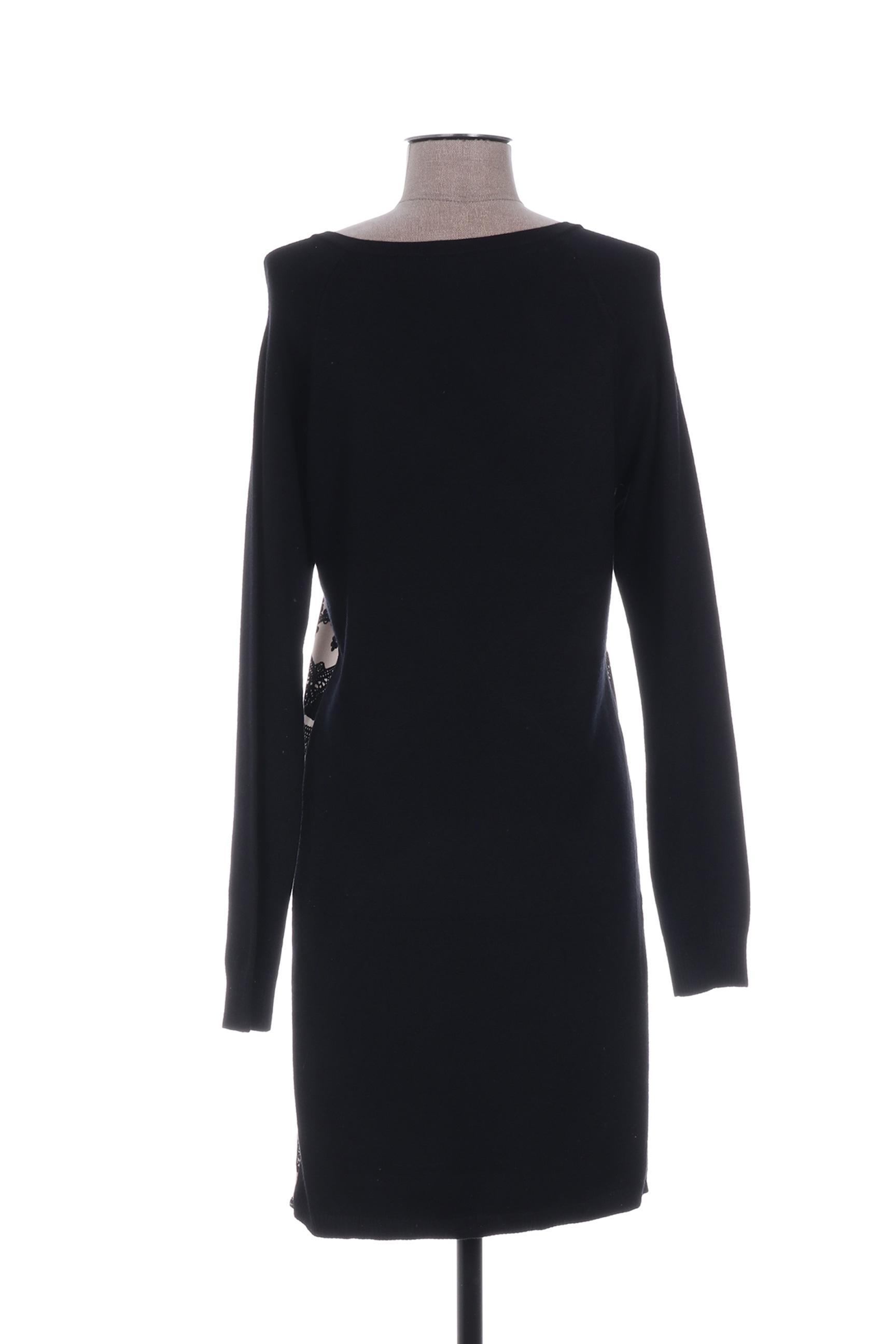 Yuka Robes Pulls Femme De Couleur Noir En Soldes Pas Cher 1233230-noir00