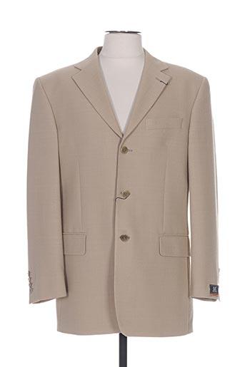 Veste chic / Blazer beige LUC SAINT ALBAN pour homme