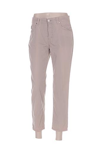 anna montana pantalons femme de couleur marron