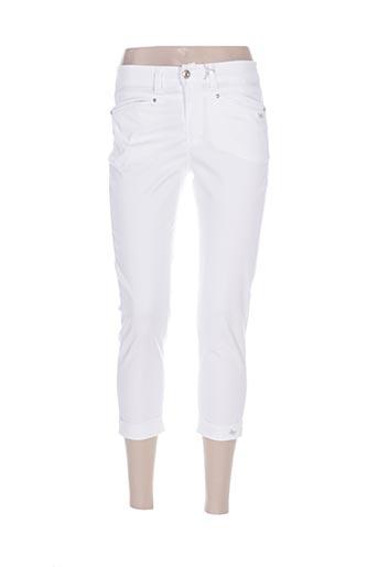 anna montana pantacourts femme de couleur blanc