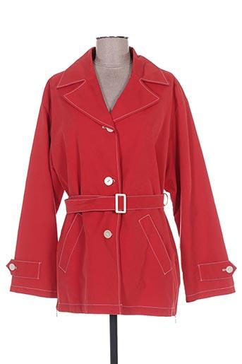 Imperméable/Trench rouge CENTER COAT pour femme
