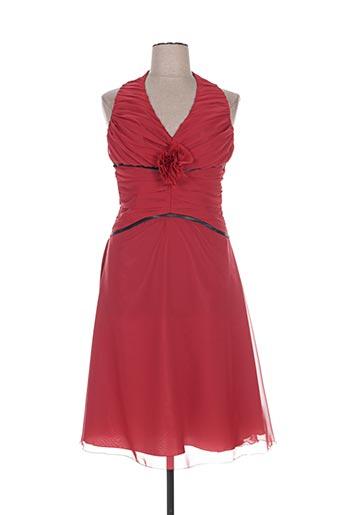 Robe mi-longue rouge COCKTAIL pour femme