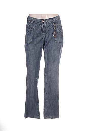 not the same pantalons femme de couleur bleu