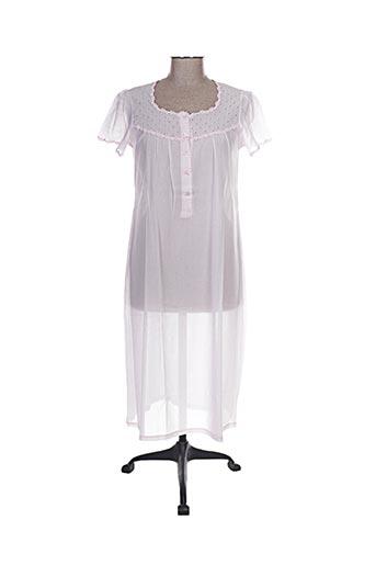 Chemise de nuit rose CANAT pour femme