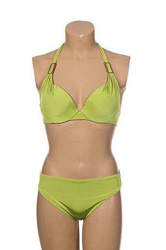 lise charmel maillots de bain femme de couleur vert