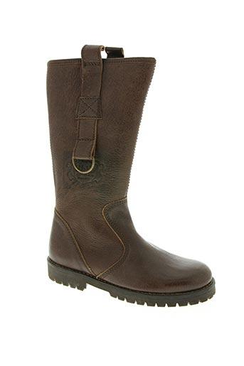 ubik chaussures fille de couleur marron