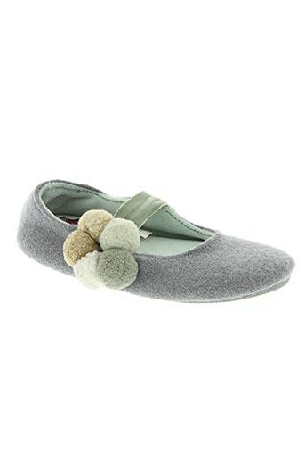 isotoner chaussures fille de couleur gris