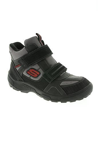 skechers chaussures garçon de couleur gris