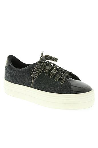 no name chaussures femme de couleur noir