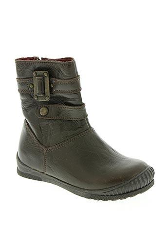 bopy chaussures fille de couleur marron
