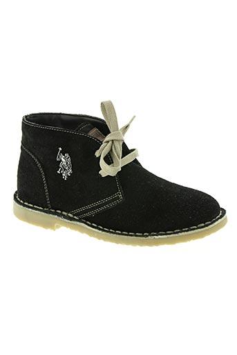 u.s. polo assn chaussures garçon de couleur noir