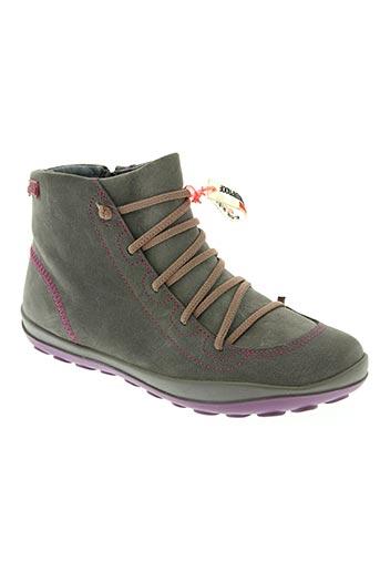 camper chaussures fille de couleur gris