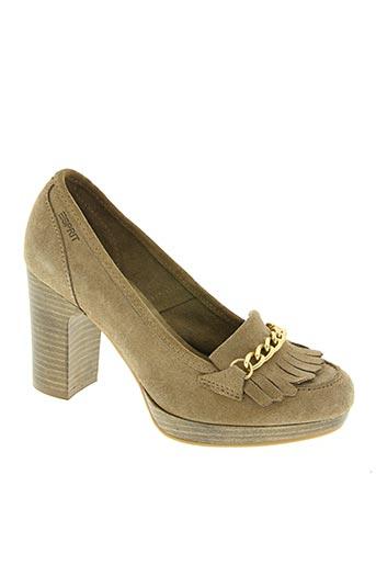 esprit chaussures femme de couleur beige
