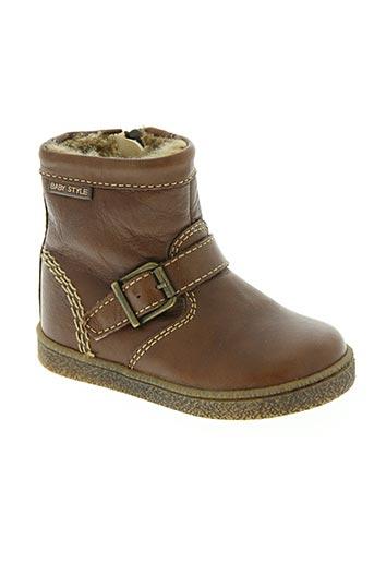 beberlis chaussures garçon de couleur marron