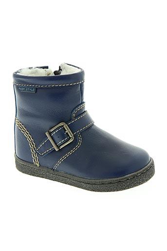 beberlis chaussures garçon de couleur bleu
