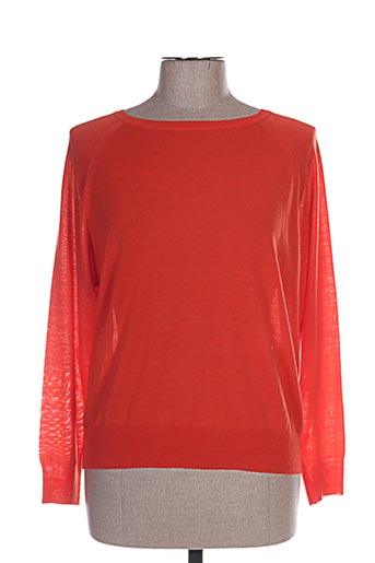 Pull col rond rouge TARA JARMON pour femme