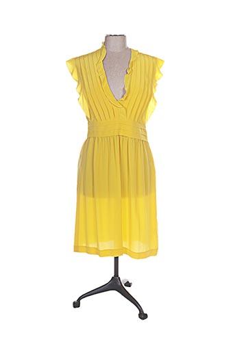 Robe mi-longue jaune CACHAREL pour femme