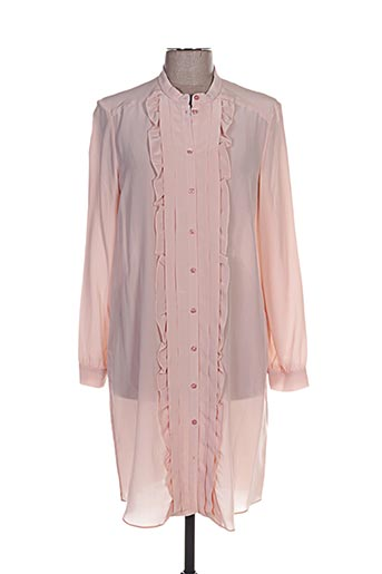 Robe mi-longue rose CACHAREL pour femme
