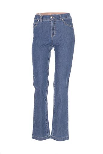Jeans coupe slim bleu DISMERO pour femme