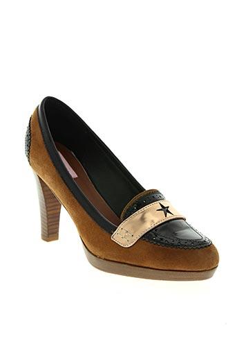 c.petula chaussures femme de couleur marron