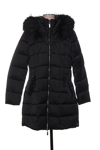rino EFFI_CHAR_1 pelle manteaux femme de couleur noir