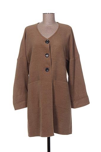 franck anna manteaux femme de couleur marron