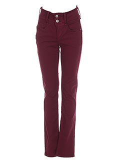 Jeans coupe slim rouge TIFFOSI pour femme