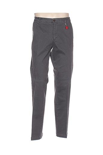 manuel ritz pantalons homme de couleur gris