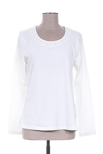 erfo t-shirts femme de couleur blanc