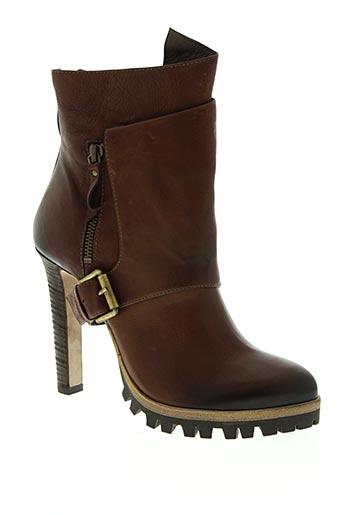 vic matie chaussures femme de couleur marron