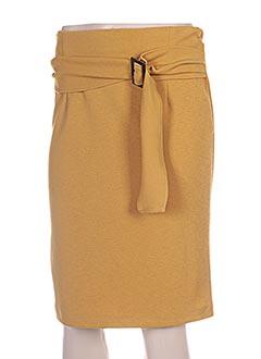 Jupe mi-longue jaune FARUK pour femme