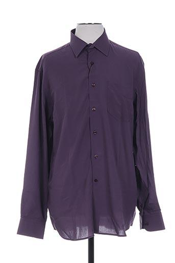 ted lapidus chemises homme de couleur violet
