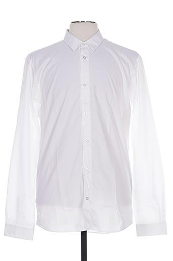 fairplay chemises homme de couleur blanc