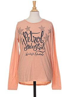 T-shirt manches longues rose PETROL INDUSTRIES pour fille