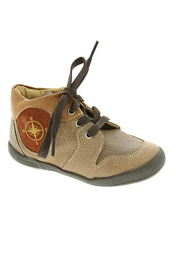 minibel chaussures garçon de couleur marron