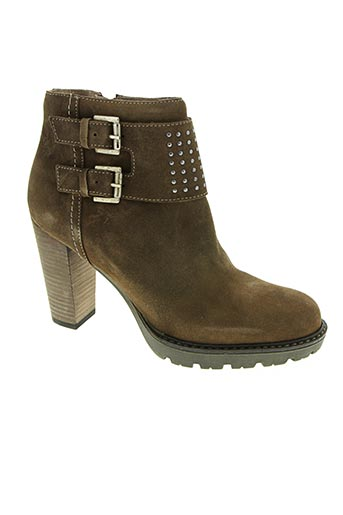 yokono chaussures femme de couleur marron