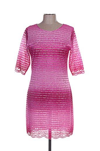 Robe courte rose ANNA MUR pour femme