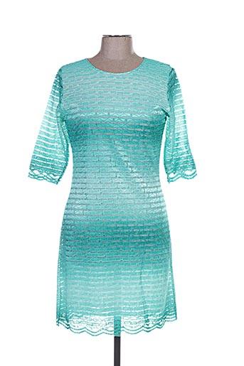 Robe courte vert ANNA MUR pour femme