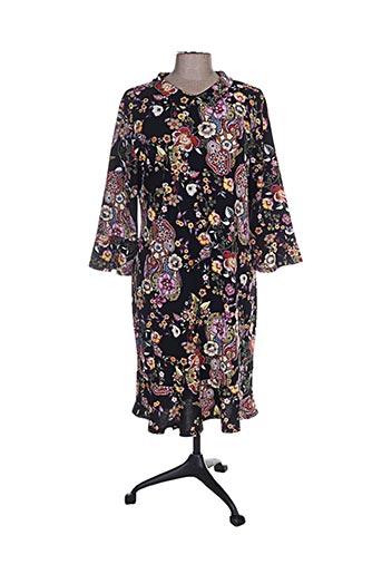 Robe mi-longue noir ANNA MUR pour femme