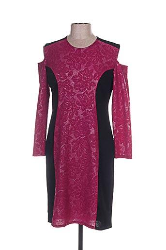 Robe mi-longue rose ANNA MUR pour femme