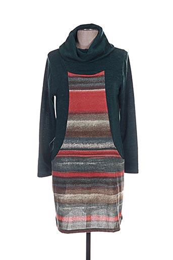 Robe pull vert ANNA MUR pour femme