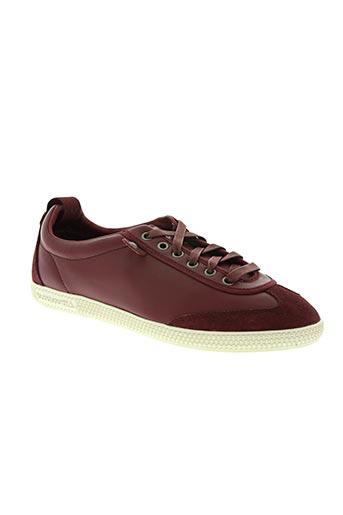 le coq sportif chaussures homme de couleur rouge