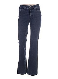 Jeans coupe droite bleu AQUAJEANS pour femme