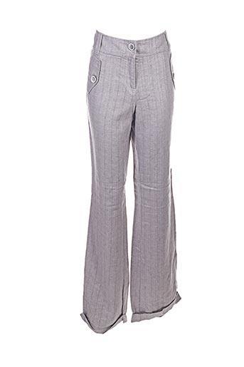 jc trigon pantalons femme de couleur gris