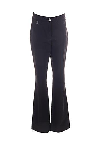 jc trigon pantalons femme de couleur noir