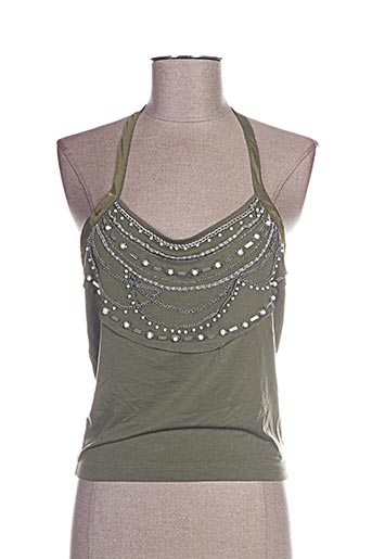 Top vert FREE FOR HUMANITY pour femme